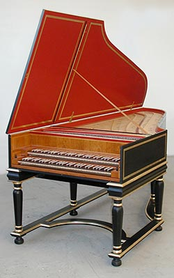 german double manual harpsichords rh hubharp com Pedal Harpsichord two manual harpsichord for sale