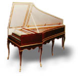 French Double Manual Harpsichord after Hemsch. Click here for details.