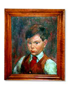Portrait by Jon Corbino of Frank Hubbard at age 6